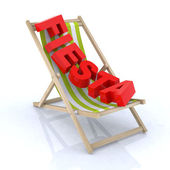 "Beach chair with ""fiesta"" written — Stock Photo"