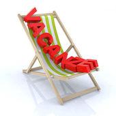 "Beach chair with ""vacanza"" written — Stock Photo"