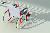 Wheelchair in front of stairs — Stock Photo