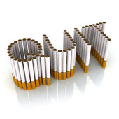 Written quit made with cigarettes — Stock Photo