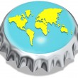 Metal cap world - Stock Photo