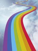 The way of rainbow — Stock Photo