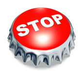 Red metal cap stop — Stock Photo