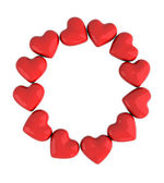 Letter O with red hearts — Stock Photo