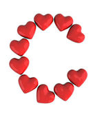 Letter C with red hearts — Stock Photo