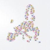 Europe map euro banknotes — 图库照片