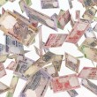 Stock Photo: Falling banknotes rupee rain