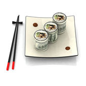 Sushi dollar illustration — Stock Photo