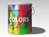 Paint color bin — Stock Photo