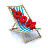 Ventes de 50 pour cent de chaise plage — Photo