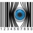 Eyeball that gets out from bar code — Stock Photo #32594789