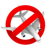 Prohibition road sign airplane fighter — Stock Photo