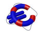 Euro symbol like lifebuoy, low cost travel concepts, — Stock Photo