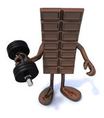 Chocolate energy sports concepts — Stock Photo