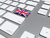 English flag button on the keyboard — Foto de Stock