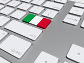 Italian flag button on the keyboard — Foto de Stock