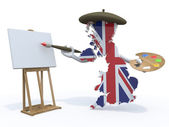 England map painter — 图库照片
