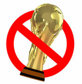 Traffic sign prohibited world cup — Stock Photo