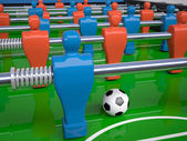 Detail of table football toy — Stock Photo
