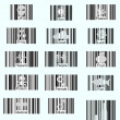 Barcode icons - Stock Vector