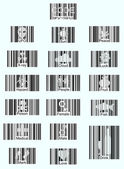 Barcode icons — Stock Vector