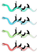 On the snake 2013 — Stock Vector