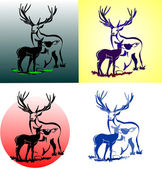 Family of deer — Stock Vector