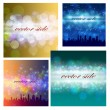 Abstract background with city colorful night lights — Stock Vector #34271491