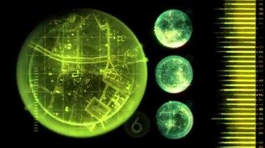 Radar Screen Display — Stock Video