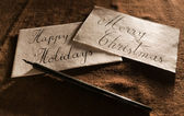 Vintage Greeting Card — Stockfoto