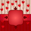 Stock Vector: Valentine day card