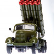 Stock Photo: Katyushmultiple rocket launcher 4