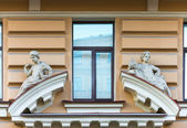 Sculptural composition at a window — Stockfoto
