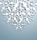 Flocons de neige qui se chevauchent vector — Vecteur