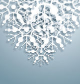 Overlapping vector Snowflakes — Stock Vector