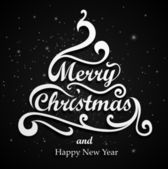 Merry Christmas Type — Stock Vector