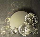 EPS10 file. Floral frame design with grunge background. — Stock Vector