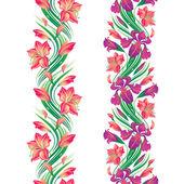 Seamless flower border — Stock Vector