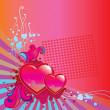 Stock Vector: Valentines Day corner background