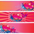 Stock Vector: Valentines Day set of three banners