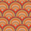 Stockvector : Ethnic wallpaper pattern