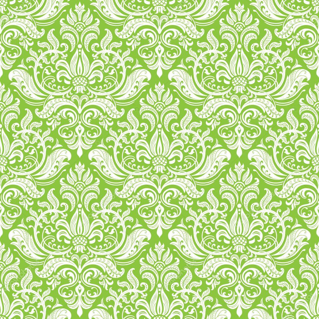 damask wallpaper background stock vector