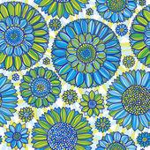 Daisy seamless pattern — Stock Vector