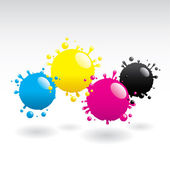 CMYK Drops — Stock Vector