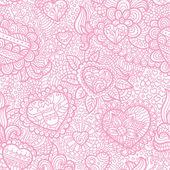 Transparente motif coeurs et fleurs — Vecteur