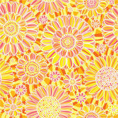 Daisy seamless pattern — Stock Vector