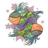 Little Pisces — Stock Vector