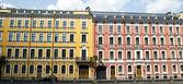 Facades of St. Petersburg — Stock Photo