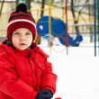 Boy in winter park — Stock Photo #16259293