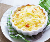Potato gratin with cream — Stock Photo